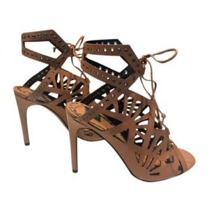 Dolce Vita Nude Caged Heels Sandals